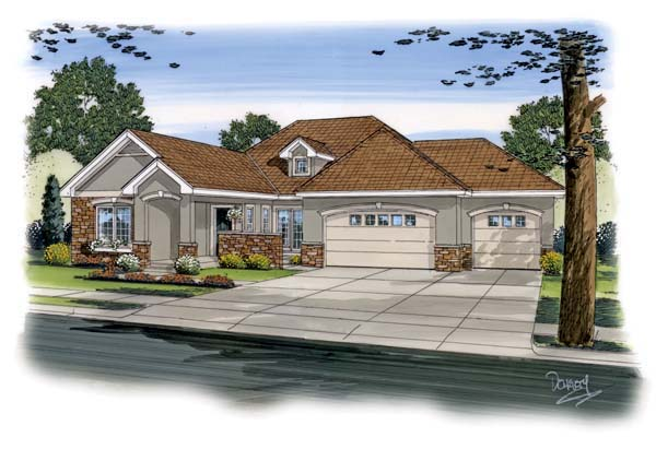 Traditional House Plan 44094 Elevation