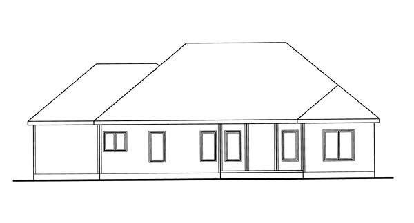 Traditional House Plan 44094 Rear Elevation