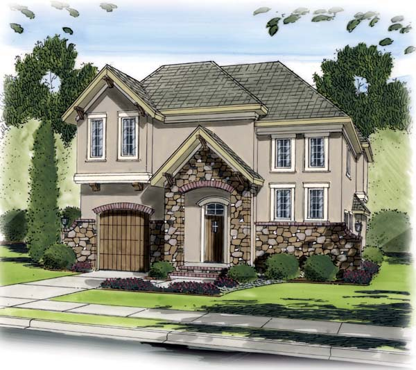 European Traditional House Plan 44096 Elevation