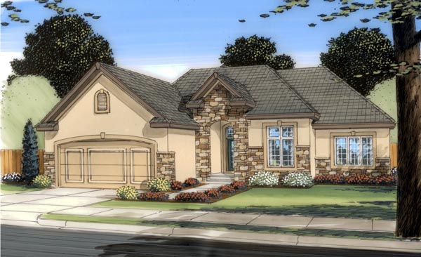 Traditional House Plan 44097 Elevation