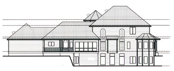 House Plan 44098 | Victorian Style Plan with 3524 Sq Ft, 4 Bedrooms, 4 Bathrooms, 3 Car Garage Rear Elevation