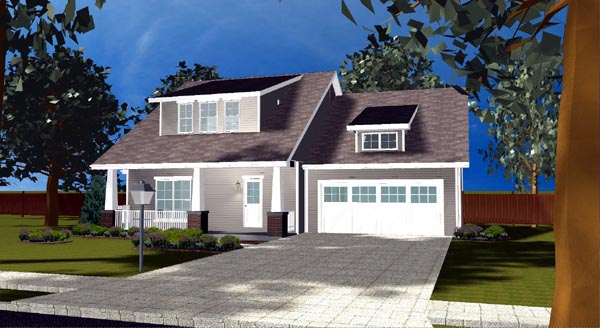 Bungalow Craftsman House Plan 44101 Elevation