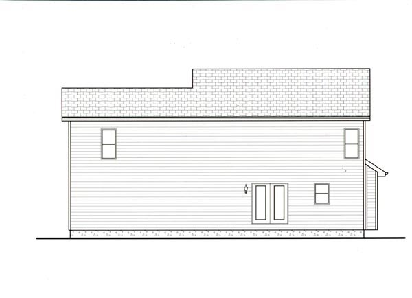 Bungalow Craftsman House Plan 44101 Rear Elevation