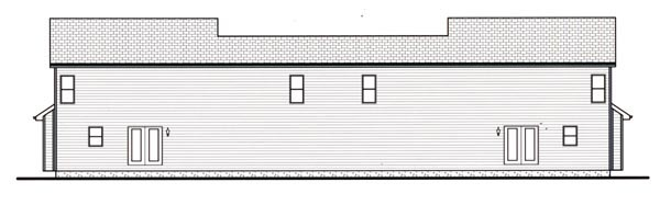 Craftsman Multi-Family Plan 44102 Rear Elevation