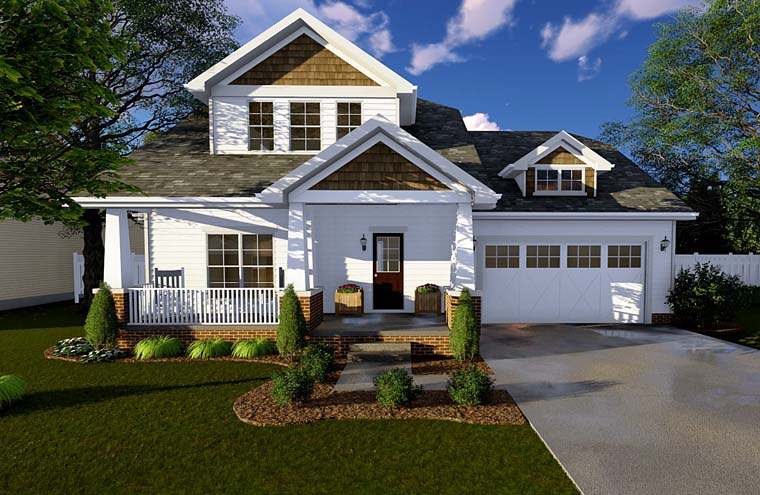 Bungalow Craftsman House Plan 44103 Elevation
