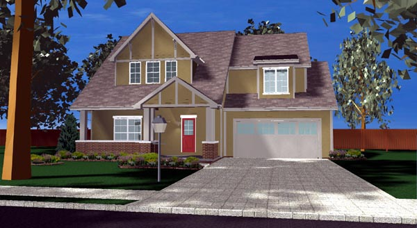 Bungalow Traditional House Plan 44104 Elevation