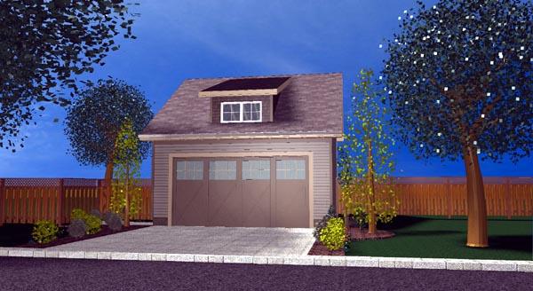 2 Car Garage Plan 44106 Picture 1