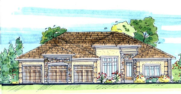 Mediterranean House Plan 44109 Elevation