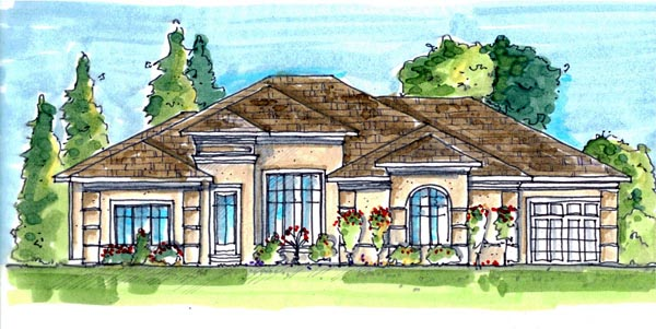 Contemporary Mediterranean House Plan 44110 Elevation