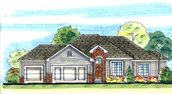Traditional House Plan 44113 Elevation