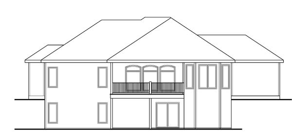 Traditional House Plan 44113 Rear Elevation