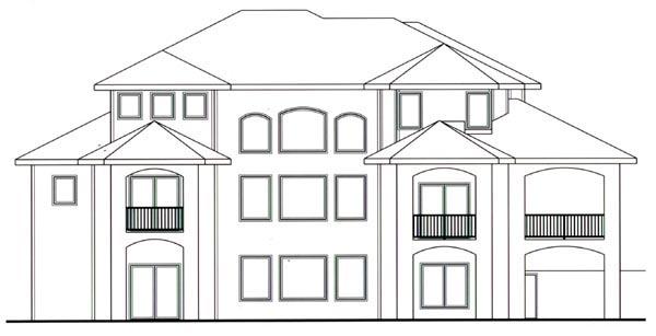 Mediterranean House Plan 44114 Rear Elevation