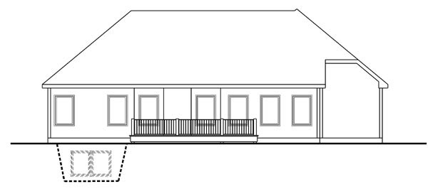 Traditional House Plan 44115 Rear Elevation