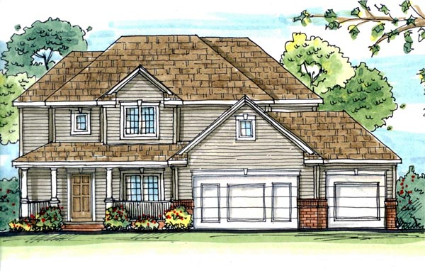 Traditional House Plan 44116 Elevation