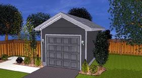 Traditional 1 Car Garage Plan 44119 Elevation
