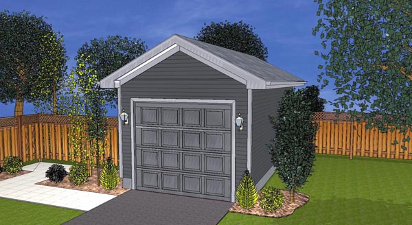 Traditional Garage Plan 44119 Elevation