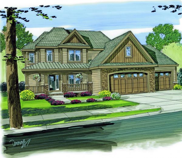 Country House Plan 44125 Elevation