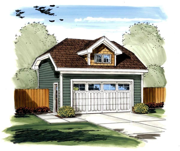 Craftsman, Traditional 2 Car Garage Plan 44126 Elevation