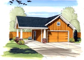 Craftsman Traditional Garage Plan 44133 Elevation