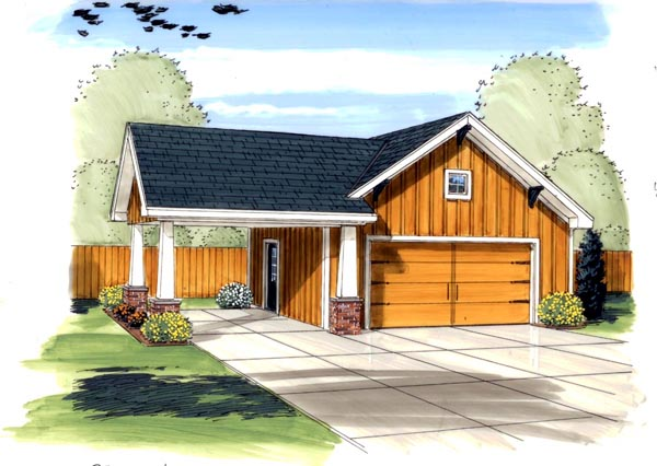Craftsman , Traditional 3 Car Garage Plan 44133 Elevation