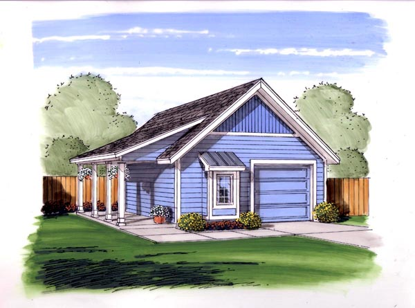 Traditional Garage Plan 44142 Elevation