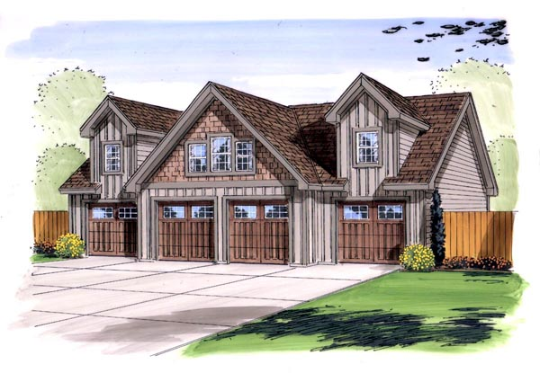 Garage Plan 44143 Elevation