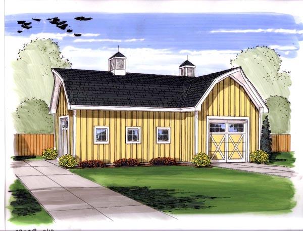 Farmhouse, Traditional 2 Car Garage Plan 44144 Elevation