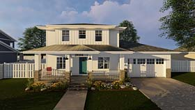 Cottage , Country , Southwest House Plan 44178 with 3 Beds, 3 Baths, 2 Car Garage Elevation