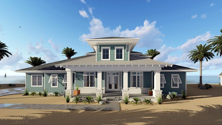 House plan 44183 at Reverse one and a half story house plans