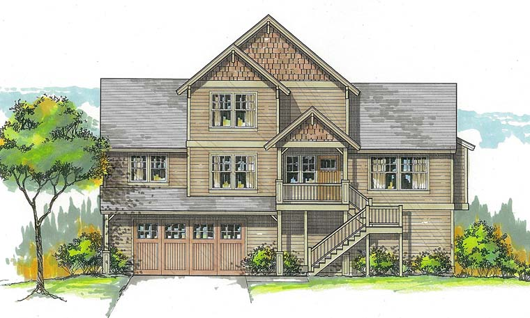 Traditional House Plan 44500 Elevation