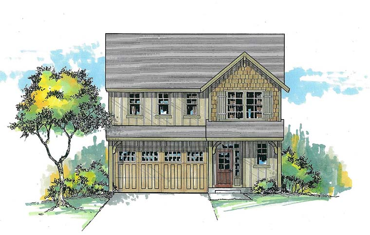 Colonial Craftsman Southern House Plan 44504 Elevation