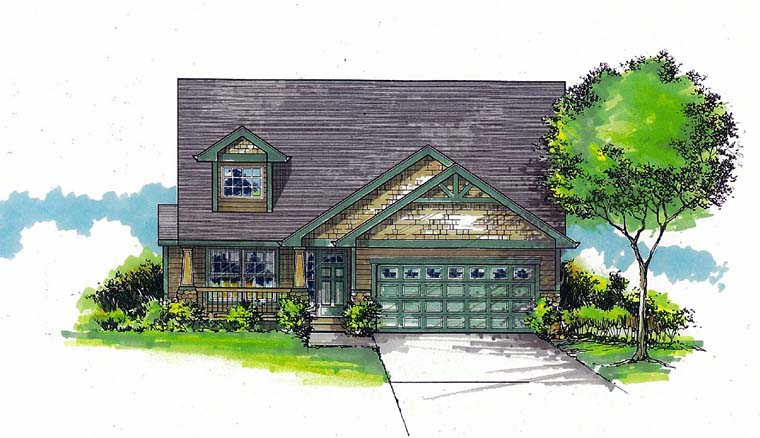 Craftsman Traditional House Plan 44505 Elevation
