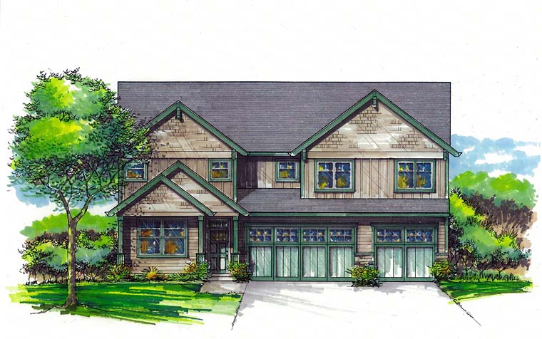 Cottage Country Craftsman Southern Traditional House Plan 44508 Elevation