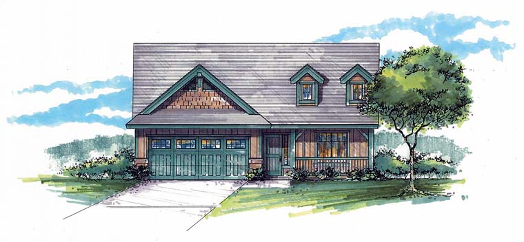 Country Craftsman Southern House Plan 44510 Elevation