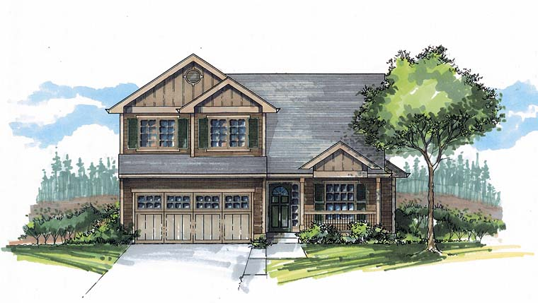 Traditional House Plan 44514 Elevation