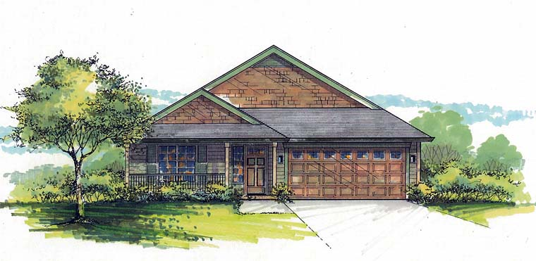 Country Southern Traditional House Plan 44518 Elevation