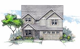 Craftsman Traditional House Plan 44602 Elevation