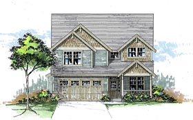 Cottage Country Traditional House Plan 44604 Elevation