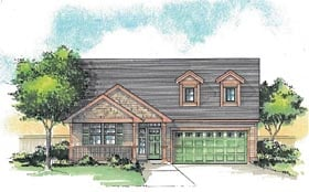 Craftsman Traditional House Plan 44607 Elevation