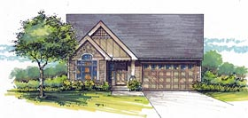 Cottage Country Craftsman Traditional House Plan 44612 Elevation