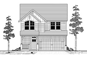 Craftsman Traditional House Plan 44617 Elevation