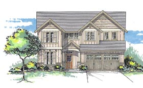 Traditional , Craftsman , Country House Plan 44619 with 5 Beds, 4 Baths, 2 Car Garage Elevation