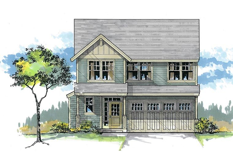 Cottage Country Craftsman House Plan 44622 Elevation