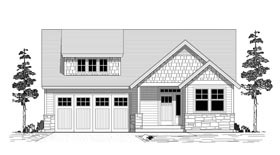 House Plan 44624 | Bungalow Cottage Traditional Style Plan with 2458 Sq Ft, 3 Bedrooms, 3 Bathrooms, 2 Car Garage Elevation