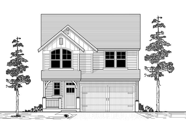 Country Traditional Elevation of Plan 44625