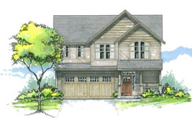 House Plan 44626 | Country Traditional Style Plan with 2616 Sq Ft, 4 Bedrooms, 3 Bathrooms, 2 Car Garage Elevation