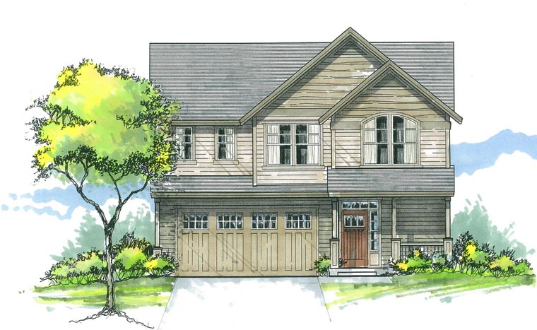 Country Traditional House Plan 44626 Elevation