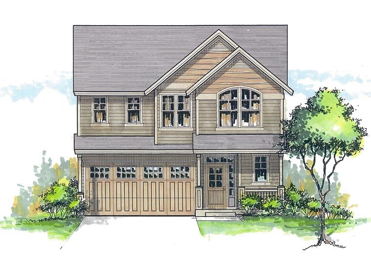 House Plan 44627 | Country Traditional Style Plan with 2371 Sq Ft, 4 Bedrooms, 3 Bathrooms, 2 Car Garage Elevation
