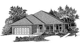 European Traditional House Plan 44628 Elevation