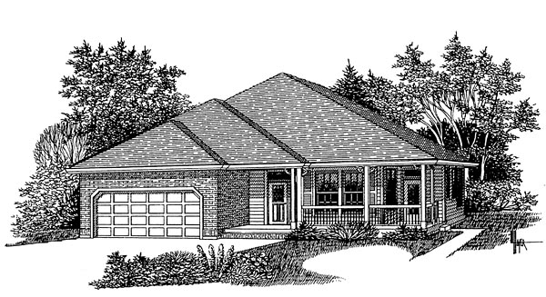 European Traditional House Plan 44628 Elevation